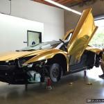 Gold Chrome Wrap Installation