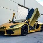 Gold Chrome Lamborghini