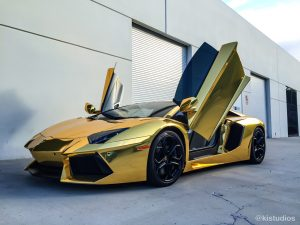 Gold Chrome Lamborghini