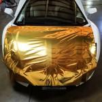 Gold Chrome wrap install
