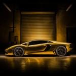 Gold Chrome Lamborghini Aventador Wrap