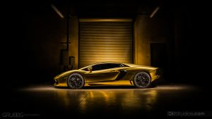 Gold Chrome Lamborghini Aventador Wrap