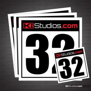 KI Studios Racing Number Plates