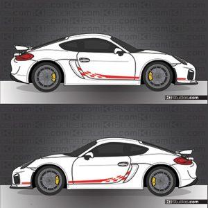 Cayman GT4 Checker decals