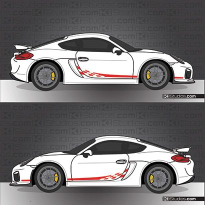 Cayman GT4 Checker decals