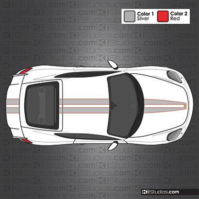 Porsche GT4 Stripe Kit 007