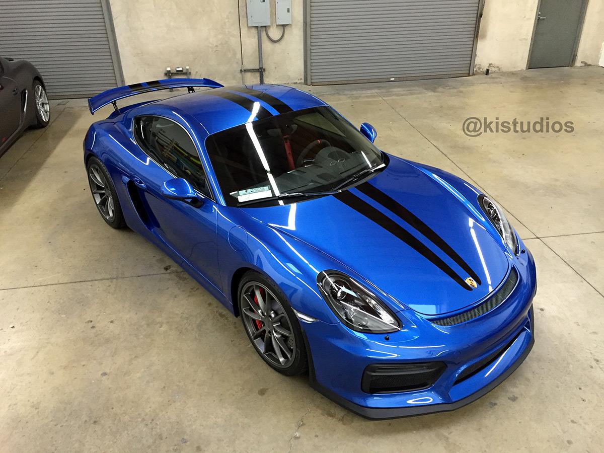 Car Wraps Cost >> Porsche Cayman GT4 Stripe Kit 006 - KI Studios