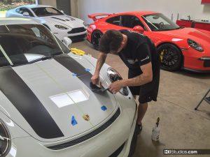 Porsche 981 GT4 911R Stripes Application