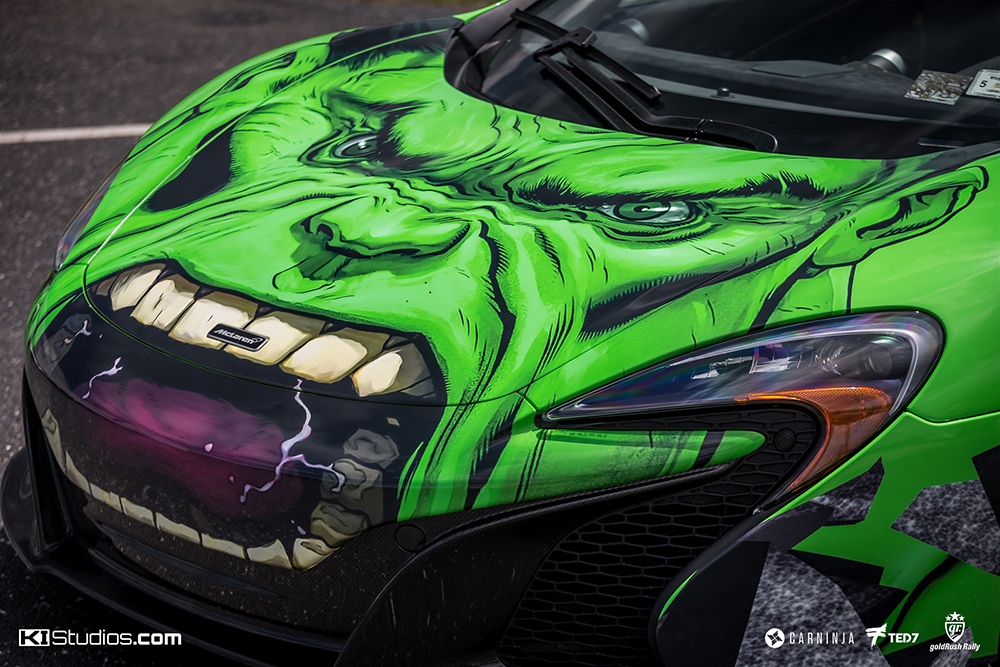 Clear Bra For Cars >> MacLaren 650S The Hulk Wrap Superhero - KI Studios
