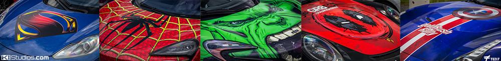Super Hero Car Wraps