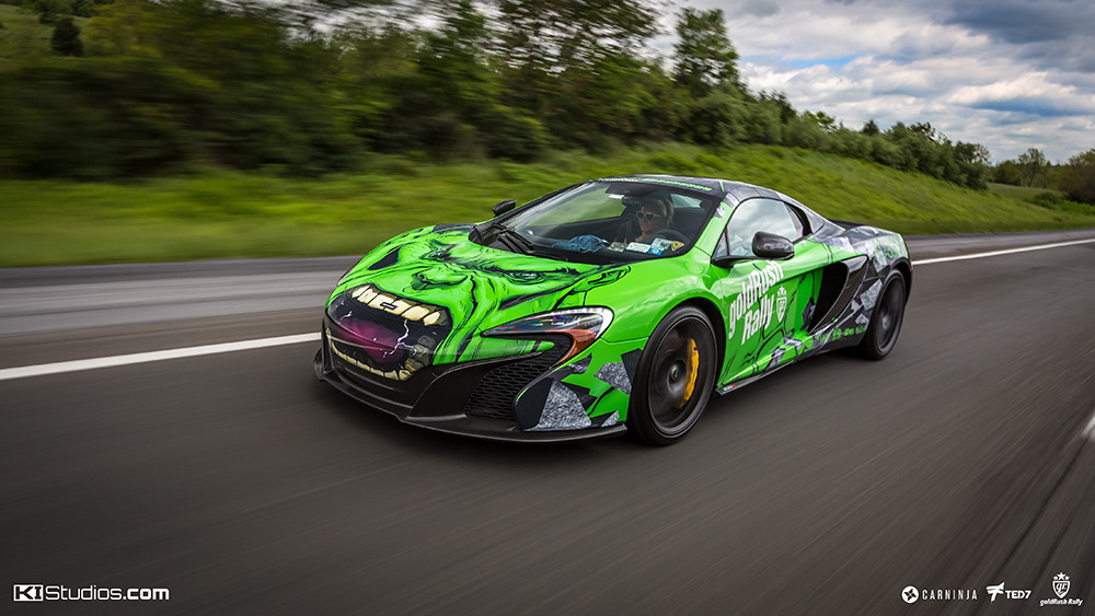 Maclaren 650s The Hulk Wrap Superhero Ki Studios