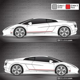 Lamborghini Gallardo Stripe Kit 007