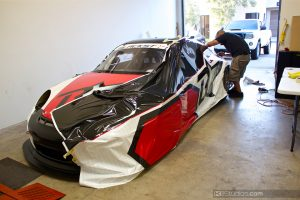 Blackstar Porsche 911 Wrap in Process