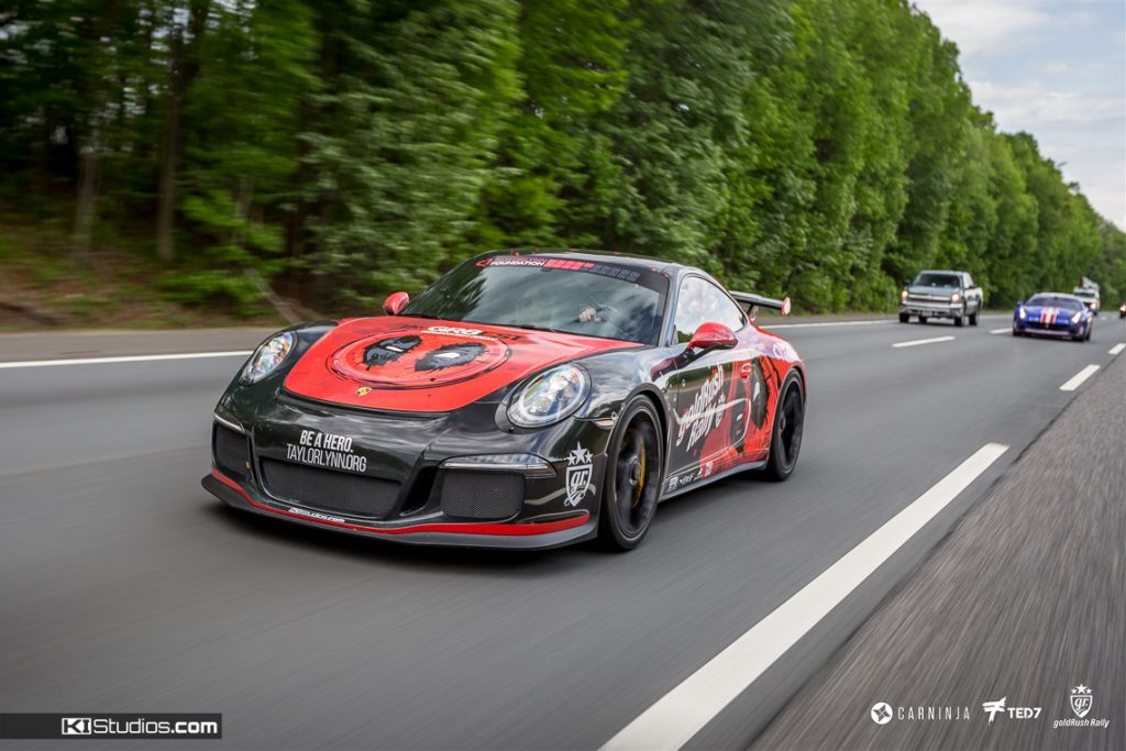 Deadpool Porsche 991 GT3 Rolling Shot