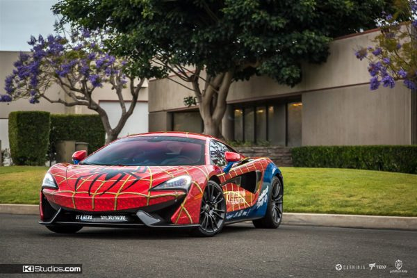 Spiderman McLaren 570S KI Studios Superhero Wrap