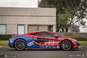 Spiderman McLaren 570s Side View golfRush - KI Studios