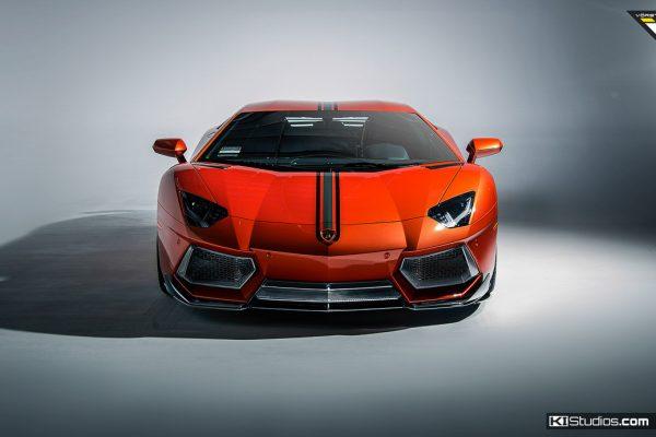 Arancio Argos Lamborghini Aventador for Vorsteiner