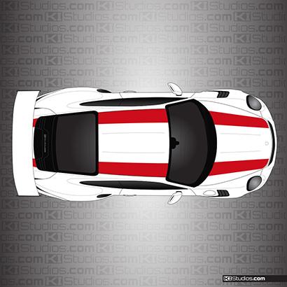 Porsche 911r 991 Gt3 Rs Stripes Ki Studios