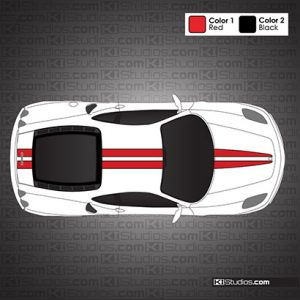 Ferrari F430 Scuderia Stripe 001 Accent Color