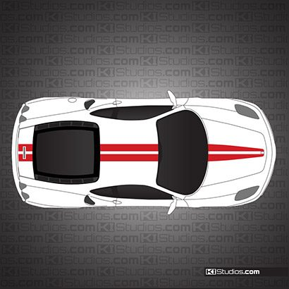 Ferrari F430 Scuderia Stripe 001 Single Color