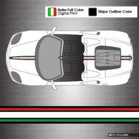 Ferrari 360 Spider Italian Flag Stripe Kit 004