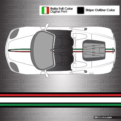 Ferrari 360 Spider Italian Flag Stripe Kit 004