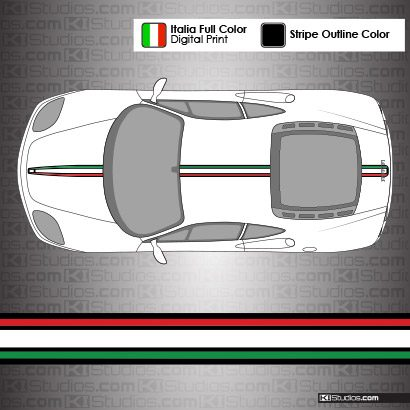 Ferrari 360 Modena Italian Flag Stripes - 004