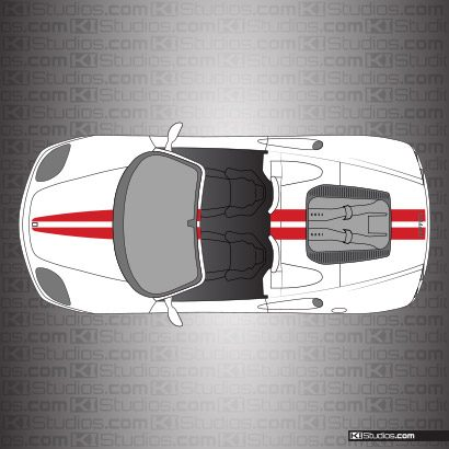 Ferrari 360 Spider Stripe Kit 001 Single Color