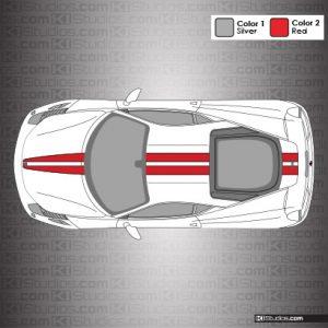 Ferrari 458 Italia Stripe Kit 001 Accent Color Style