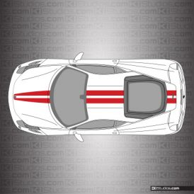 Ferrari 458 Italia Stripe Kit 001 Single Color Style