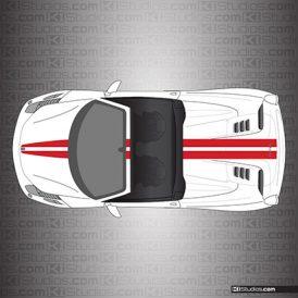 Ferrari 458 Spider Stripe Kit 001 Single Color
