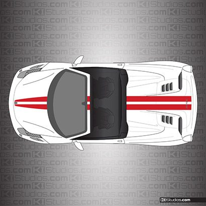 Ferrari 458 Spider Stripe Kit 001 Single Color