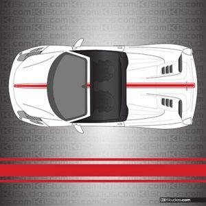 Ferrari 458 Spider Stripe Kit 002