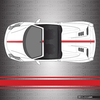 Ferrari 458 Spider Stripe Kit 002