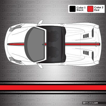 Ferrari 458 Spider Stripe Kit 003 - 16M Stripe