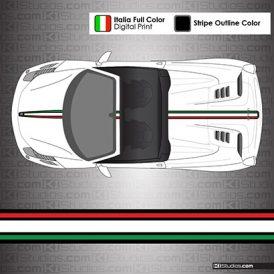 Ferrari 458 Spider Italian Flag Stripes - 004