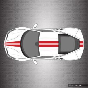 Ferrari 488 GTB Stripe Kit 001 - Single Color