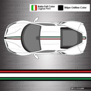 Ferrari 488 GTB Italian Flag Colors Stripe Kit