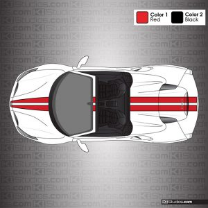 Ferrari 488 Spider Stripe Kit 001 Accent Color