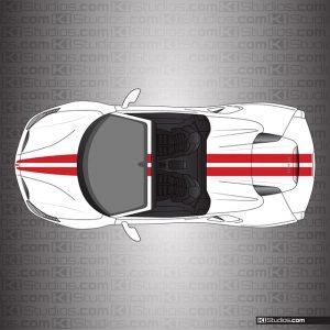 Ferrari 488 Spider Stripe Kit 001 Single Color