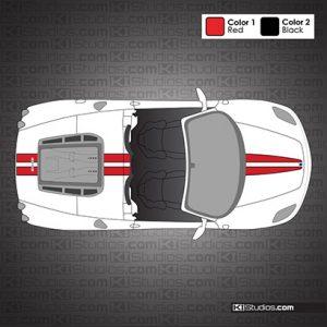 Ferrari F430 Spider Stripes with Accent Color