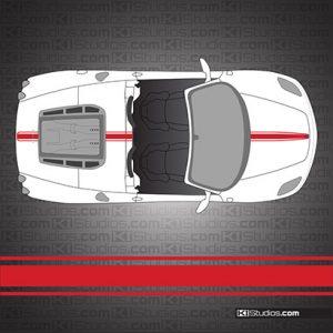 Ferrari F430 Spider Stripe Kit 002