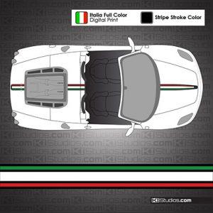 Ferrari F430 Spider Stripe 004 - Italian Flag