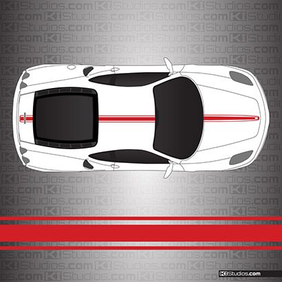Ferrari F430 Stripe Kit 002