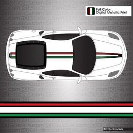 Ferrari F430 Stripe Kit Italian Flag