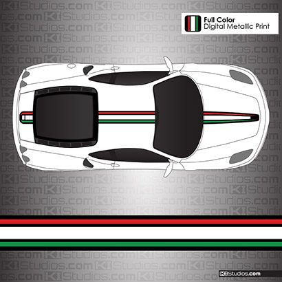 Ferrari F430 Stripe Kit Italian Flag