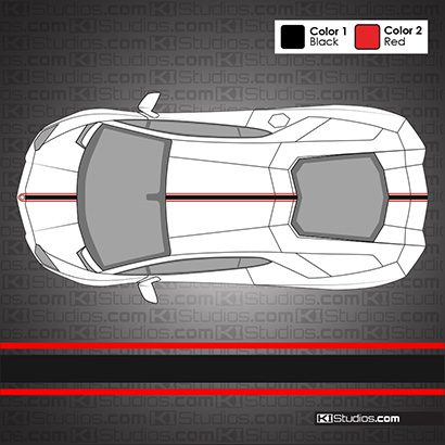 Lamborghini Aventador Triple Stripe Kit 002 - KI Studios