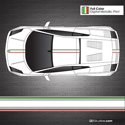 Lamborghini Gallardo Stripe Kit 004 - Italian Flag Colors