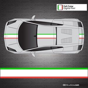 Lamborghini Gallardo Italian Flag Stripe Kit 008