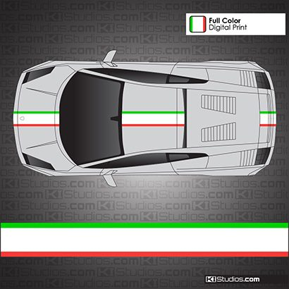 Lamborghini Gallardo Italian Flag Stripe Kit 008